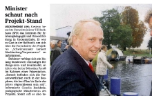 """2009-10-27 Nordkurier Haffzeitung: Presse """"Schwimmender Lernort"""""""