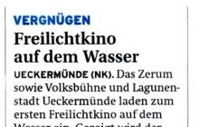 """2010-05-05 Nordkurier Haffzeitung: Presse """"Schwimmender Lernort"""""""