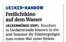 """2010-05-19 Nordkurier (überregional): Presse """"Schwimmender Lernort"""""""