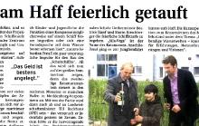 """2010-05-20 Nordkurier Haffzeitung: Presse """"Schwimmender Lernort"""""""